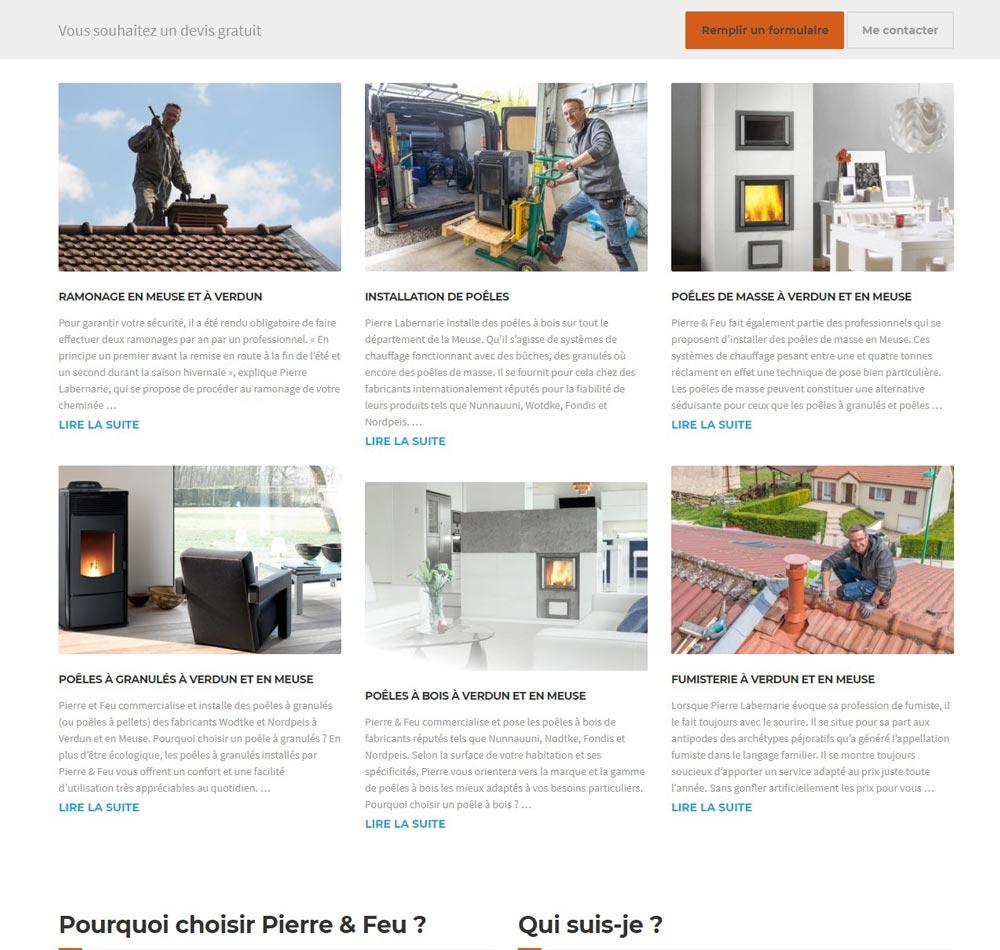 site internet Pierre et Feu en meuse